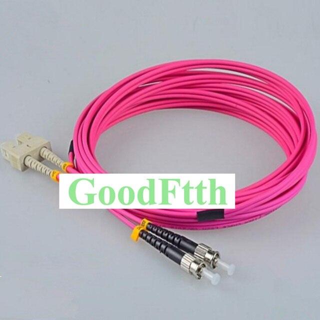 繊維パッチコードSC ST ST SC OM4デュプレックスgoodftth 1 15メートル6ピース/ロット