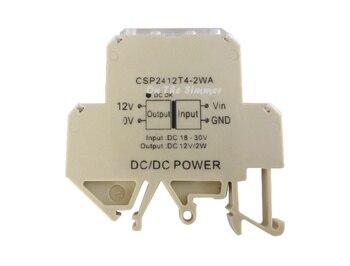 DCDC wide voltage isolation power supply module guide rail installation isolation voltage power supply 24V to 12V