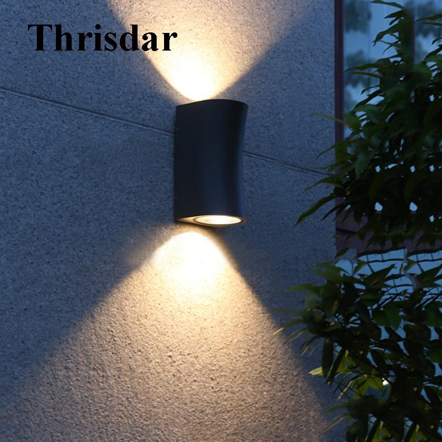 Thrisdar Up Down 10W Waterproof LED Wall Light Outdoor Garden Porch Light Modern Nordic Pathway Villia