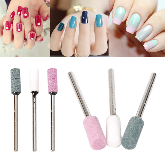Nail Art Drill Manicure Tool Silicon Carbide Carborundum Grinding Head Wheel Shank 2 34mm For