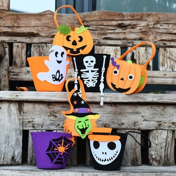 Halloween Festa del partito Classico Sacchetto Della Caramella di Stile Trick-or-Treat Tote Bag Accessorio del Costume Dei Capretti Dei Bambini Della Borsa Dropshipping