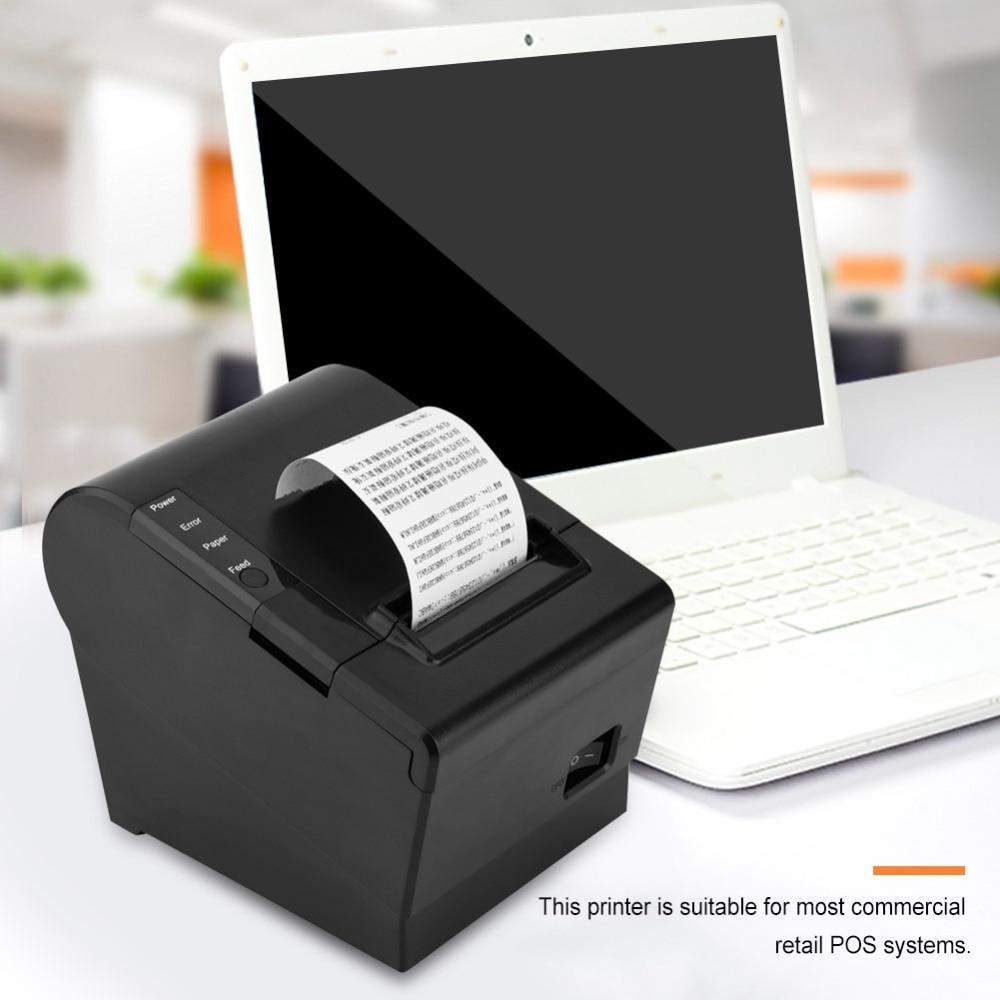 NEPOS Thermal Receipt Kitchen Printer 80mm Small Ticket Barcode POS Printer Auto Cutting Printer Support USB+Serial/LAN