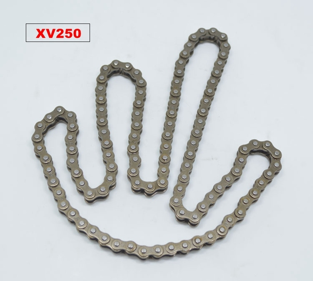 US $17 98 10% OFF|Aliexpress com : Buy Free shipping for Yamaha motorcycle  parts 250cc engine chain XV250 time chain QJ250H Virago 250 small chain