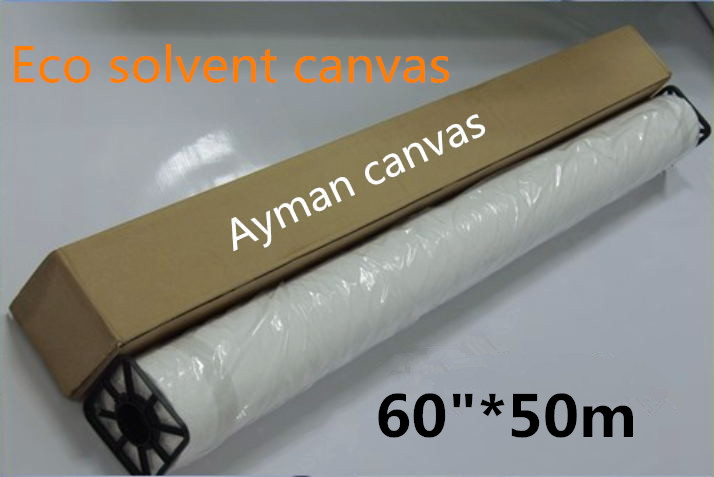 """Generous 60""""*50m Advertising Materials Eco Solvent High Glossy Polyester Canvas Roll Refreshment"""
