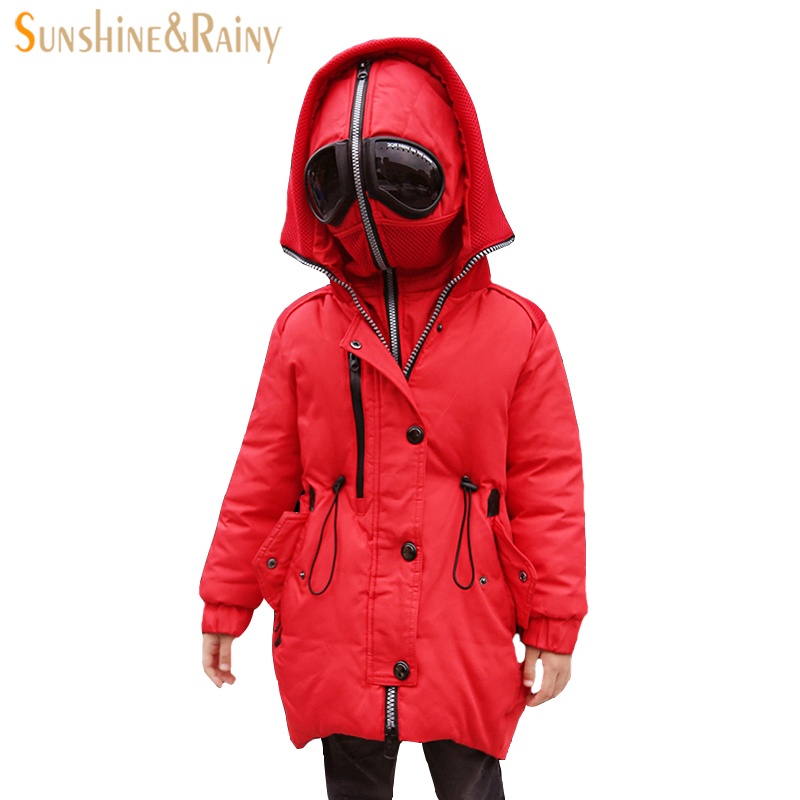 Winter Coats Girls Down Jacket For Boys Parkas Long Glasses Models Kids Hooded Jackets Thick Warm Ski Children Outwear Clothes down winter jacket for girls thickening long coats big children s clothing 2017 girl s jacket outwear 5 14 year