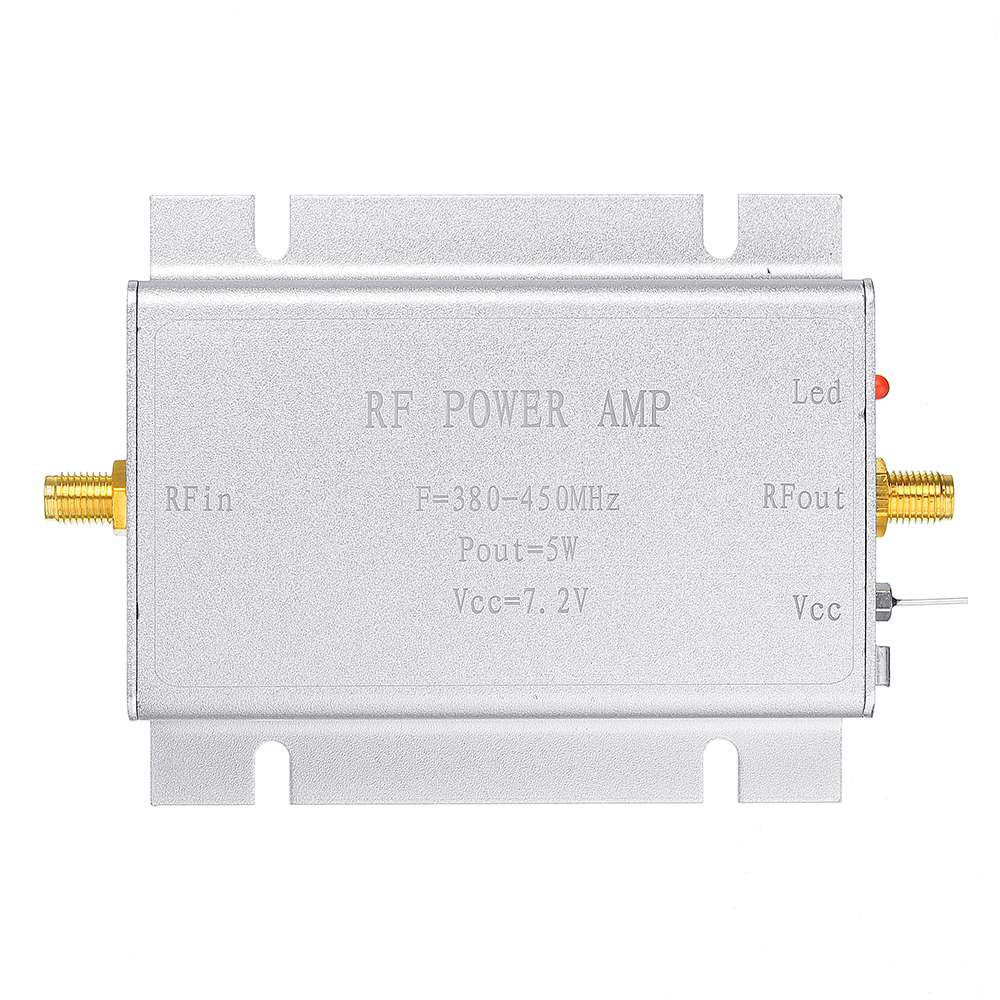 LEORY 433MHz RF Power Amplifier 433MHZ 5W 7.2V For 380- 450MHz Wireless Remote Control Transmitters Circuits
