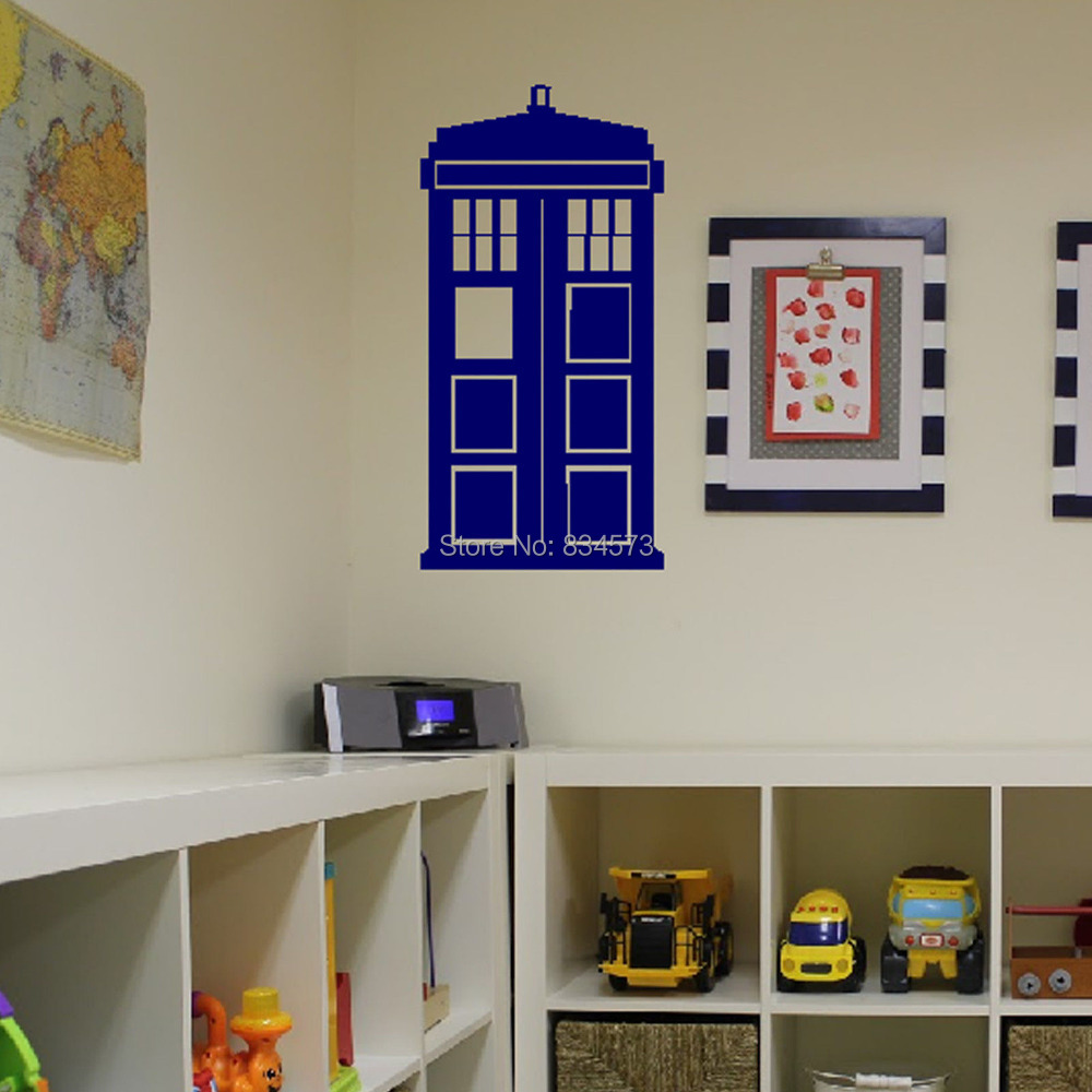 tardis wall decal roselawnlutheran aliexpress com buy hot doctor who tardis wall art sticker decal diy home decoration