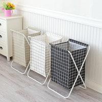 Folding Laundry Basket Big Size Baby Toys Storage Basket Iron Shelf Cesto Organizador Laundry Organizer Bags Dirty Cloth Barrel