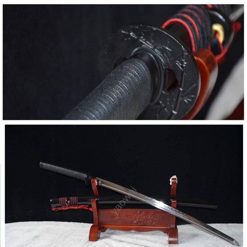 Clay Temered High Carbon Steel Blade For Japanese Samurai Battle Sword Katana