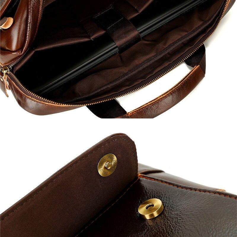 Décontracté hommes Messenger porte-documents sac ordinateur portable homme sacs à main en cuir PU hommes sacs à bandoulière Designer porte-documents pour homme voyage - 6