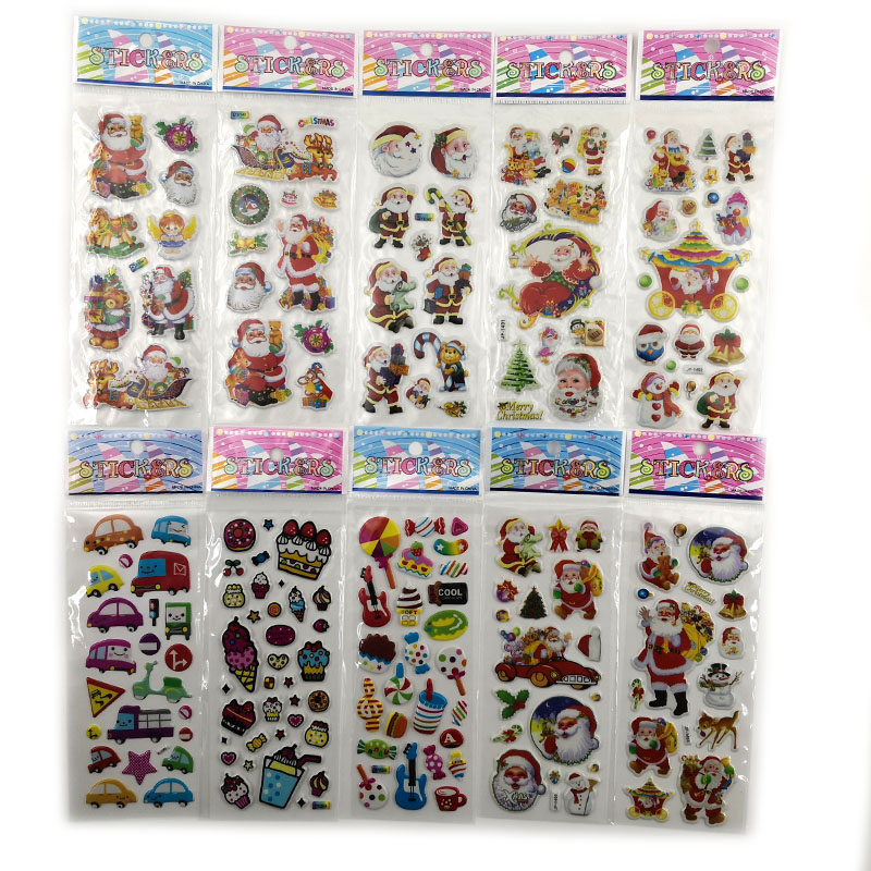 10pcs Different Stickers Stationery Sticker Funny On Diary Phone Laptop Santa Claus Christmas Office School Supplies Gifts