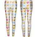 F173 2015 3d Print Emoji Joggers Pants Smile Face Leggings Women Casual Fitness Cute Cartoon Free Shipping