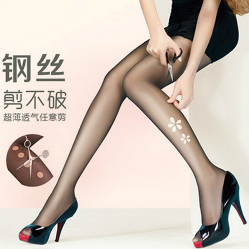 New Fashion 4 Color Anti-hook Womens stockings Unbreakable pantyhose Casual cut romper stockings casual Tights
