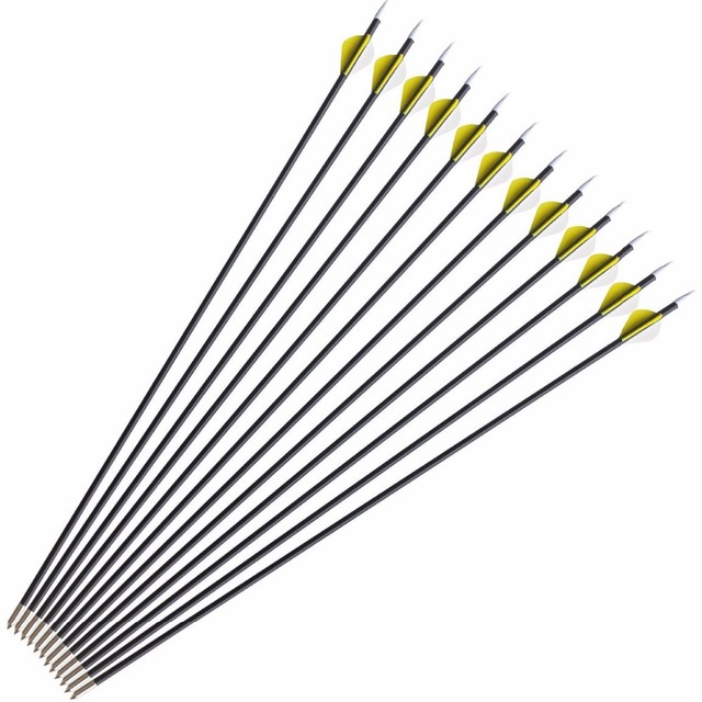 3-12 pcs 31inch 8mm Fiberglass Archery Arrows   Arrowhead Darts Shooting Hunting Arrows for Compound Recurve Bow
