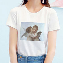 Summer Kawaii Kiss Angel Top Printed Graphic Tees New Vintage Aesthetic Tumblr Harajuku T Shirt Women Clothes Short Sleeve(China)