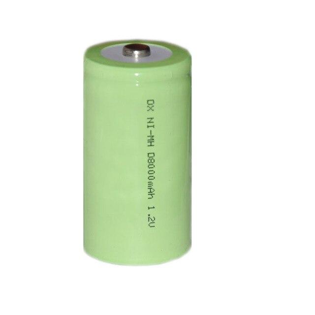 4 pz 1.2 v ricaricabile Ni-Mh nimh cellula di batteria 8000 mah Dimensione D LR20 R20 per la torcia e scaldabagno forno a gas fornello bruciatore