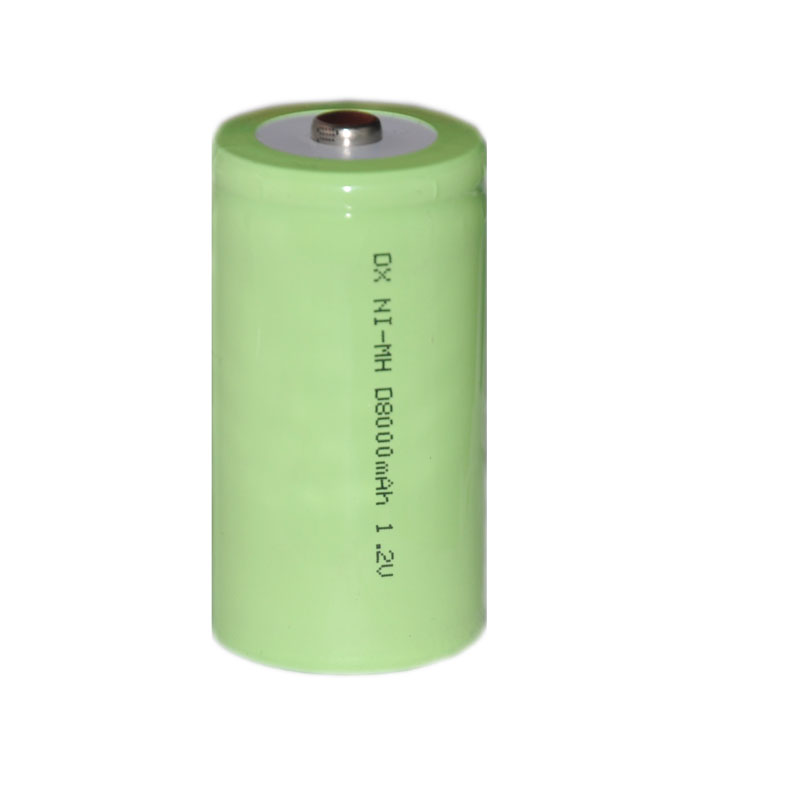 4pcs 1.2v rechargeable Ni-Mh nimh battery cell 8000mah Size D LR20 R20 for torch and water heater gas oven cooker burner