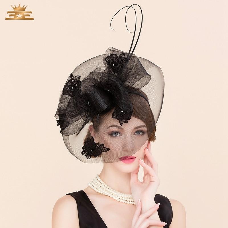 Ladies Linen Wedding Fedora Hat Classic Women Pillbox Hat with Veil Derby Party Cap Retro Hat
