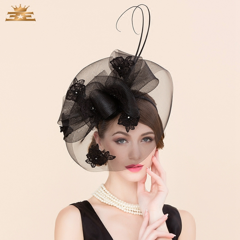 Ladies Linen Wedding Fedora Hat Classic Women Pillbox Hat with Veil Derby Party Cap Retro Hat Jockey Club Banquet Formal B-8152