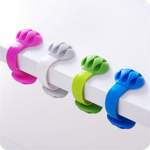 Cord-Holder Cable-Organizer Desk-Set-Supplies Office Cute 1pc Fixer Wrapped Line Silicone