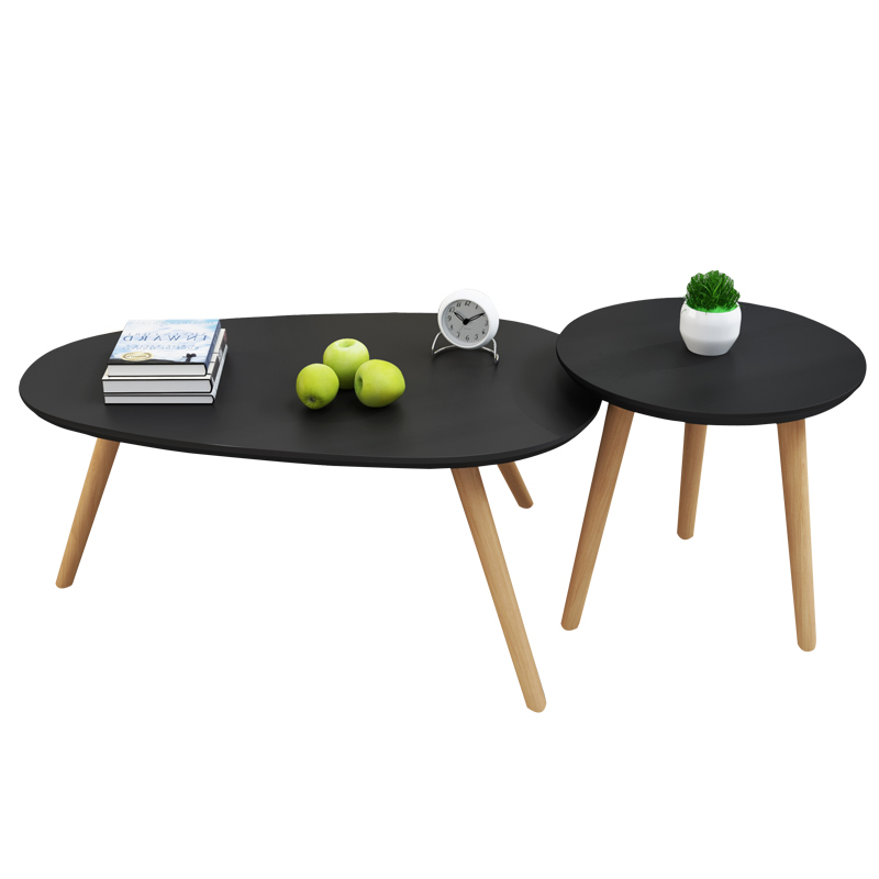 US $61.65 5% OFF|A2 Creative Wooden Tea Table Bedroom Bedside Coffee Table  Nordic Style Simple Installation Portable Sofa Side Tea Table-in Coffee ...