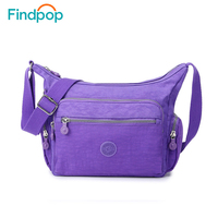 Findpop Sports Style Fashion Waterproof Nylon Shoulder Bag Quality Messenger Crossbody Bags For Women Handbags