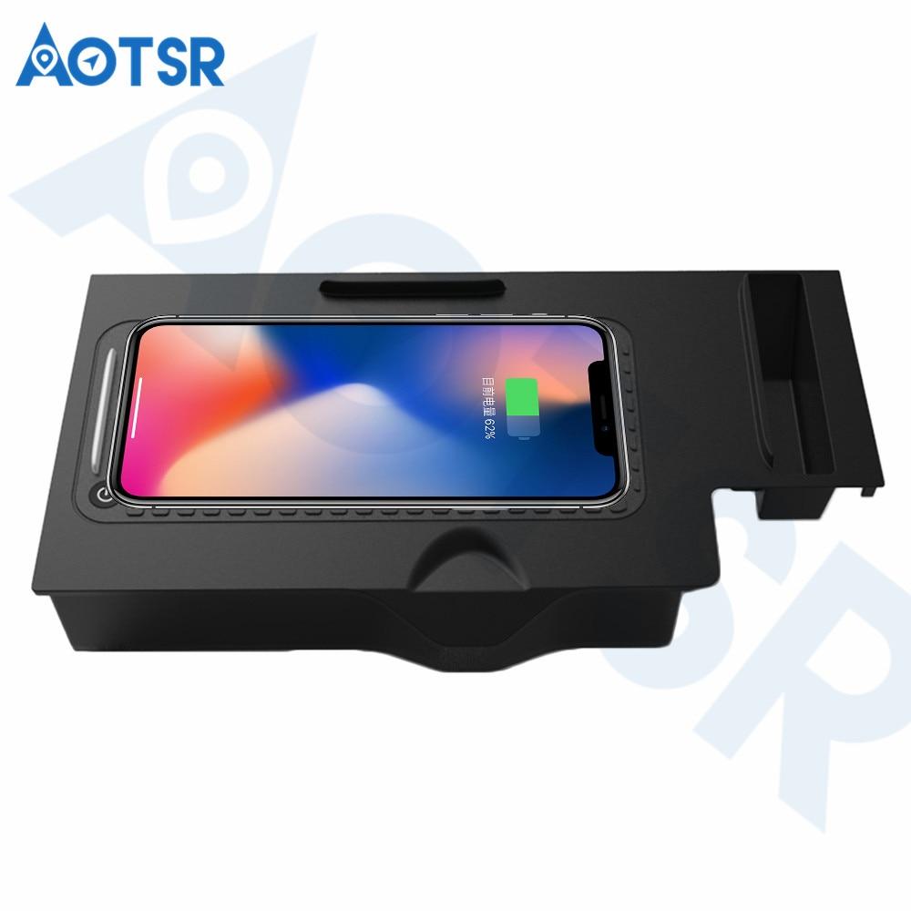 Aotsr chargeur de voiture sans fil pour BMW x3/x4 2018-2019 Intelligent infrarouge rapide sans fil voiture de charge pour téléphone/Sangsum/Nokia/LG