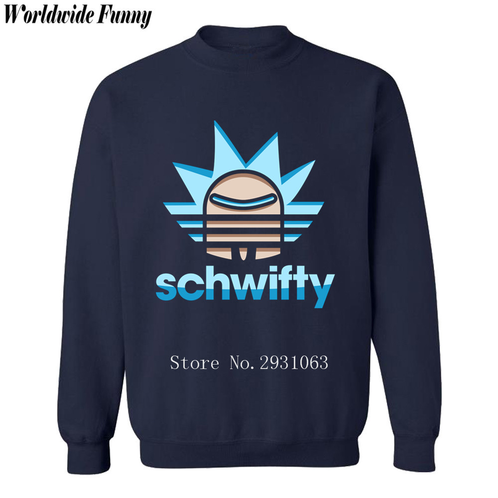 schwifty Rick and Morty Hip Hop sweatshirts long sleeve mens hoodies men hipster tracksu ...