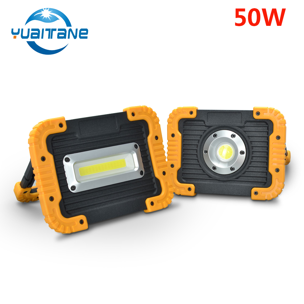 LED Portable Spotlight LED Work Light USB Rechargeable Built-in 50W COB Floodlight Searchlight Waterproof For Outdoot LightingLED Portable Spotlight LED Work Light USB Rechargeable Built-in 50W COB Floodlight Searchlight Waterproof For Outdoot Lighting