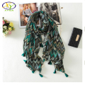 1PC 2016 Autumn New Design Bohemia Style Very Soft Voile Cotton Women Long Tassels Scarf  Woman New Soft Cotton Pashminas