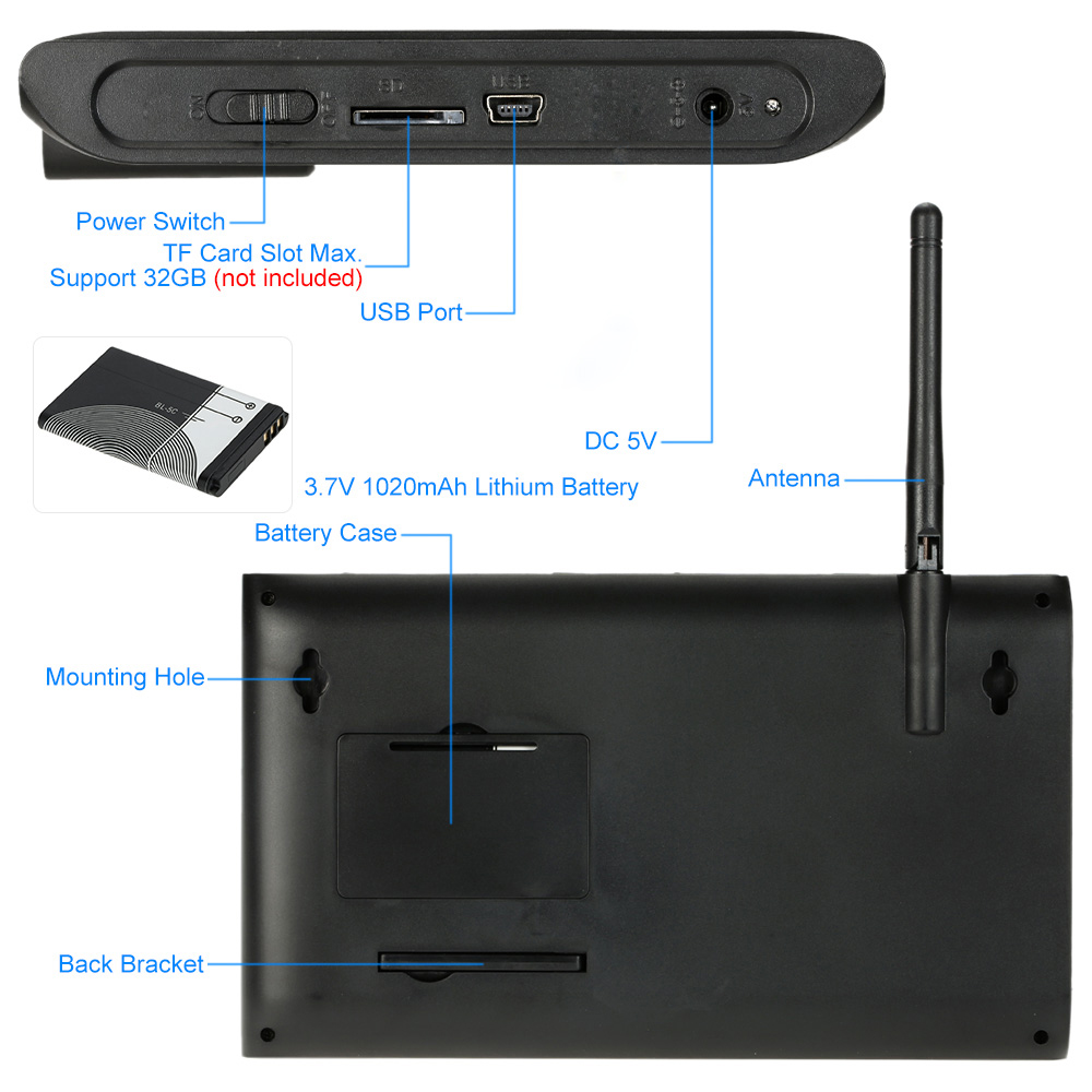 HTB1yA6zd3jN8KJjSZFCq6z3GpXaO - 2ch   video recorder  kit   for  home  surveillance  2.4G  DVR cameras   security  system