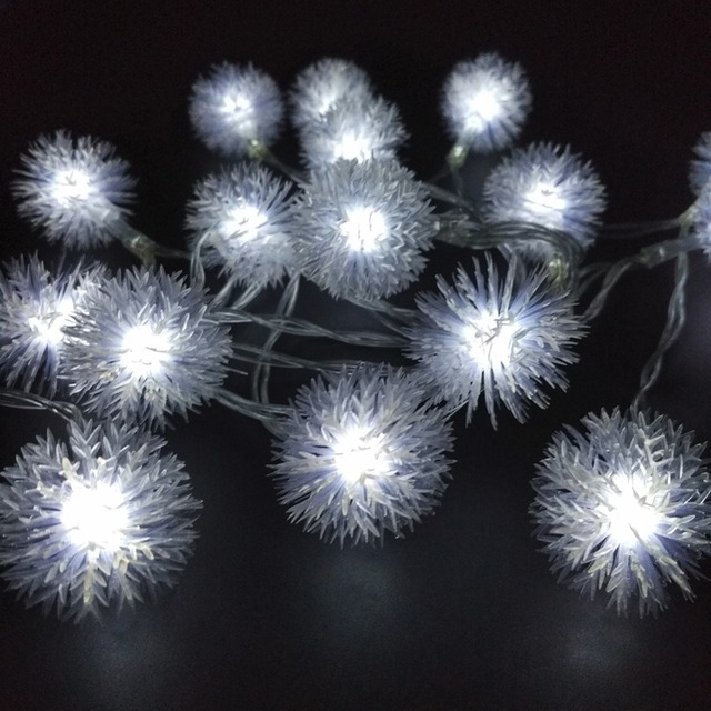 10M 100LED LED Snowball String Lights Snow Flakes Christmas Xmas Light Holiday Wedding Party Decoration Lighting 110V 220V US EU