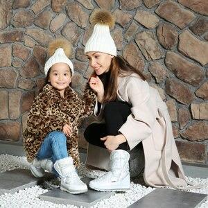 Image 3 - Белые сапоги для девочек, зимние сапоги маленькой принцессы, Красивые Зимние мини сапоги, размер 25 41, простые сапоги на липучке