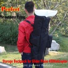 Multifunctional Backpack Storage Bag Handbag For RC Glider Plane Helicopter 450 Easy Carrying