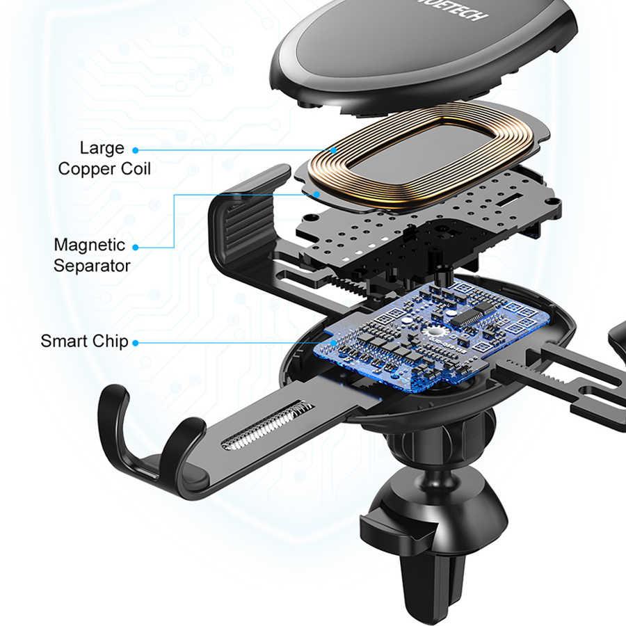 Choetech dengan QI Wireless Charger Mobil untuk Ponsel iPhone X Max XR 8 Plus Cepat Mobil Gunung Pengisian Nirkabel untuk Samsung S9