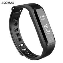 SCOMAS G15 Bluetooth 4.0 Smart Bracelet Heart Rate Monitor Blood Pressure wristband Pedometer Activities Fitness tracker