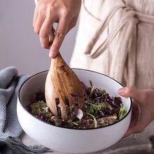 Set of 2 Wooden Cooking Tools Wooden Fork Scoop Dinnerware Set Fruit Vegetable Tools Salad Stirring Set Wood Kitchen Utensils