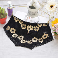 woman Sexy lingerie bamboo fiber low waist briefs embroidering breathable panties lady lace High quality Underwear