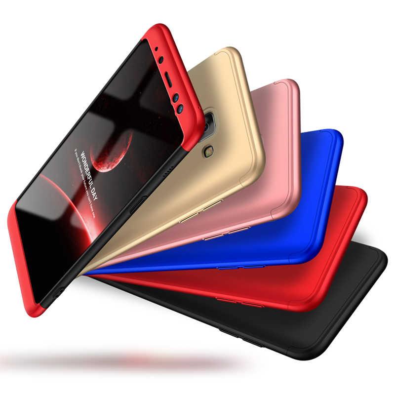 GKK originais 360 3 em 1 Proteção Integral Case Rígido PC Case Matte para Samsung Galaxy A8 2018 A8 Plus a8 + 2018 Tampa Da Caixa de Telefone