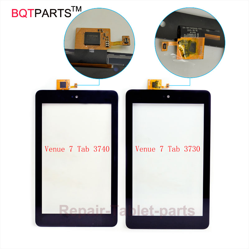 BQT High Quality Digitizer touch screen 7inch For Dell Venue 7 Tablet 3740 3730 Touch Screen With Digitizer Panel Front Glass