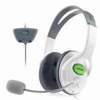 ヘッドフォン用xbox360 xbox 360スリムライブヘッドセットイヤホン付きマイクマイクステレオヘッドセットボリュームワイヤレスコントロールホワイト