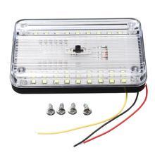 36LED wnętrza samochodu światło kopuły ABS biały lampa sufitowa do 12 V łódź morska samochód kempingowy akcesoria