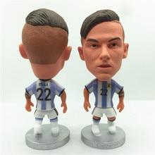 97d2025d6 Soccerwe La Joya Dybala Doll 2017 Argentina 22  National Team White Kit  Striker Figurine 2.6 Inches Height Resin Toy