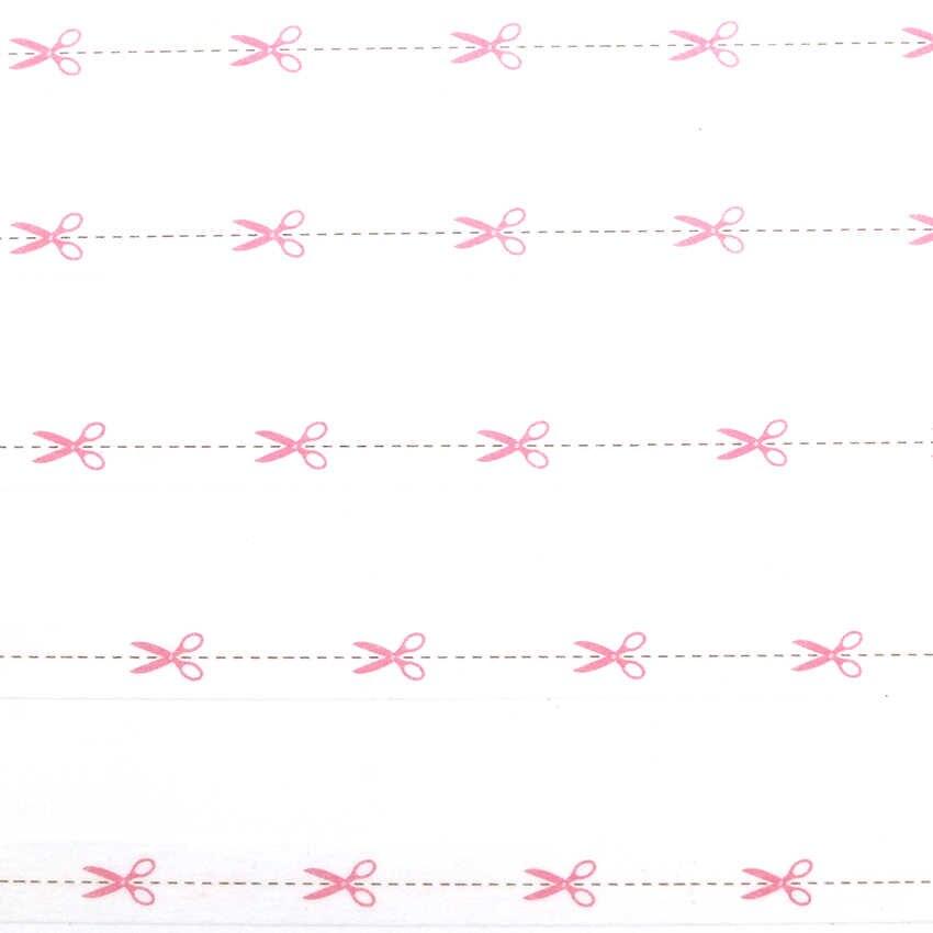 10 m * * * * * * * 8mm สีชมพูกรรไกรรูปแบบ Washi เทป Slim ตกแต่งกาวเทปกาวเทปกระดาษ 1 ชิ้น