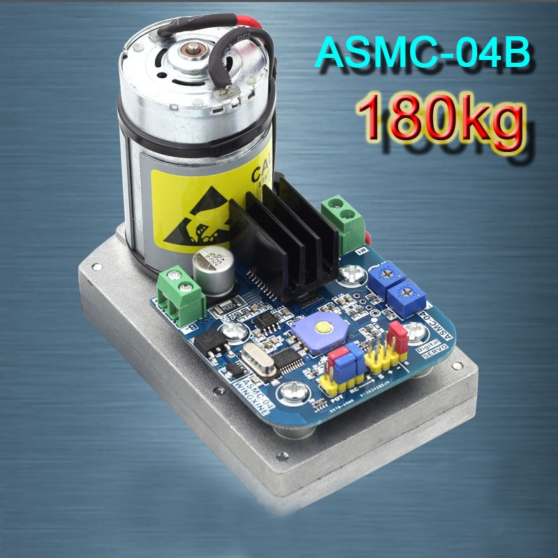 2018 High Torque RC Servo DC12V 24V 180kg.cm Steel Gear for Robot Mechanical Arm ASMC-04B 2pcs lot 180 degree 15kg 17kg biaxial digital servo ldx 218 high torque metal gear for android manipulator mechanical arm robot