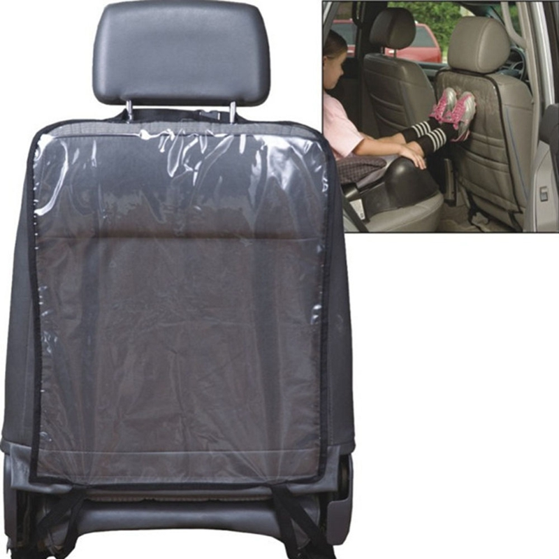 VODOOL Car Seat Back Cover Protector For Kids Children Baby Kick Mat From Mud Dirt Clean Car Seat Covers Automobile Kicking Mat(China)