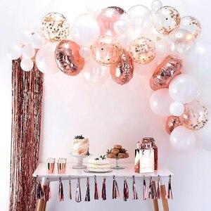 Image 3 - 20 Viên Mix Hoa Hồng Vàng Bóng Confetti Ballon Viền Trái Tim Sinh Nhật Cưới Trang Trí Balo Tặng Cho Bé Cô Dâu Sữa Tắm