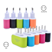 3 Hole Head USB Charger Wall Charger 3.1A Universal Phone Charging Head for iOS Androids Phones US/EU Plug DY-fly