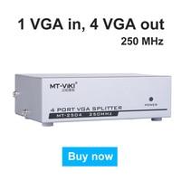 MT VIKI 2504 250Mhz VGA Video Splitter Distributor 1 Input To 4 Output 1 PC Computer