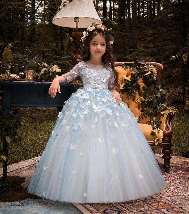 e1ec33e697b05 Detail Feedback Questions about Puffy tulle Half sleeves light blue ...